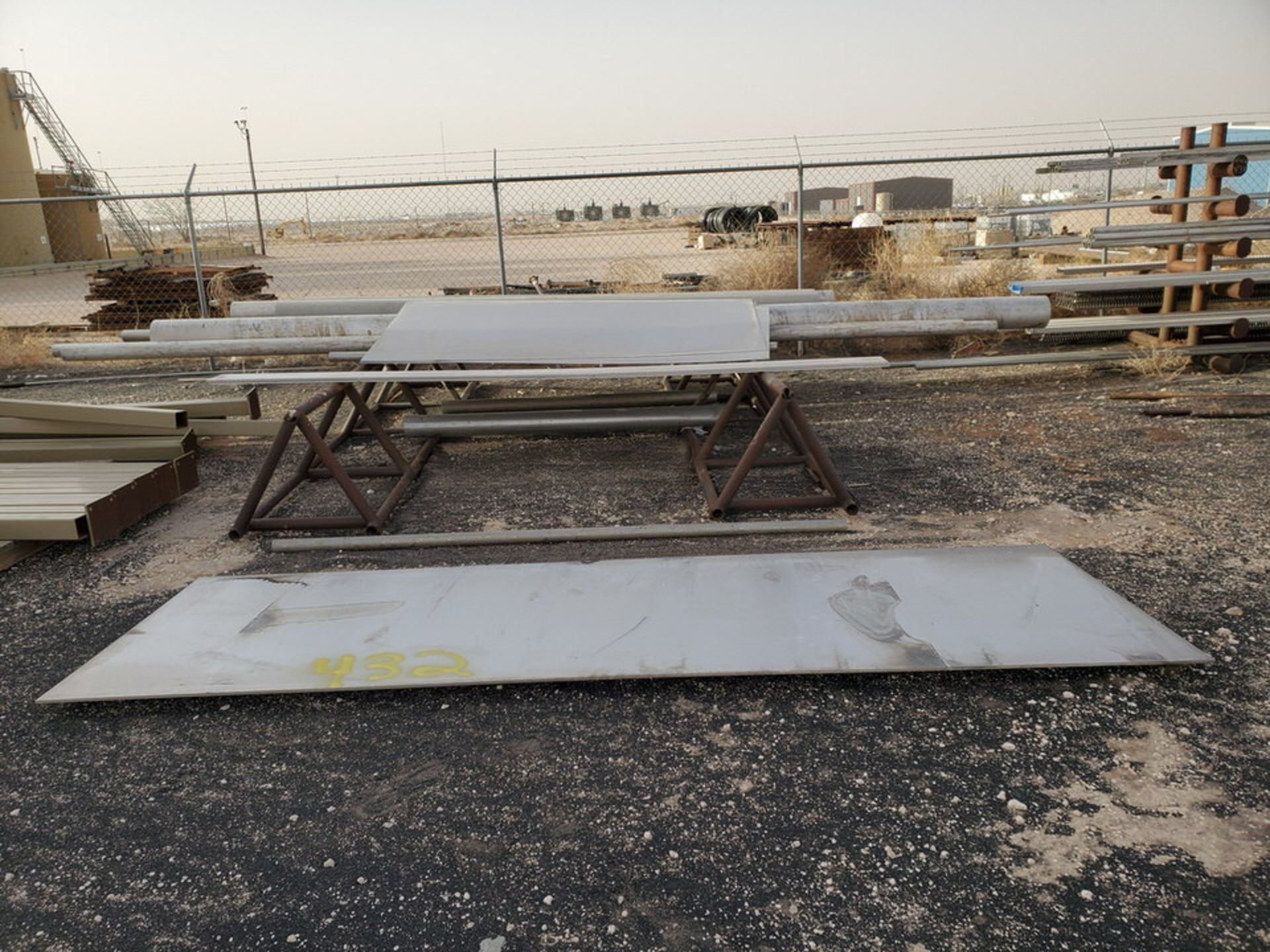 Assorted Matl. To Include But Not Limited To: S/S Flat Bar, Pipe & Sheets (Rack Excluded)