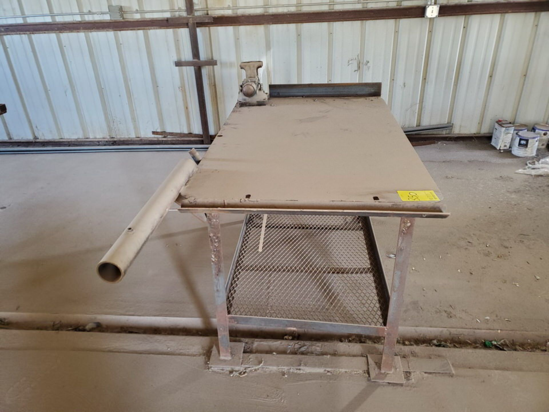 """Welding Tables (1) 37"""" x 65"""" x 36"""", W/ 5-1/2"""" Vise, (1) 72"""" x 64"""" x 38"""" - Image 4 of 8"""