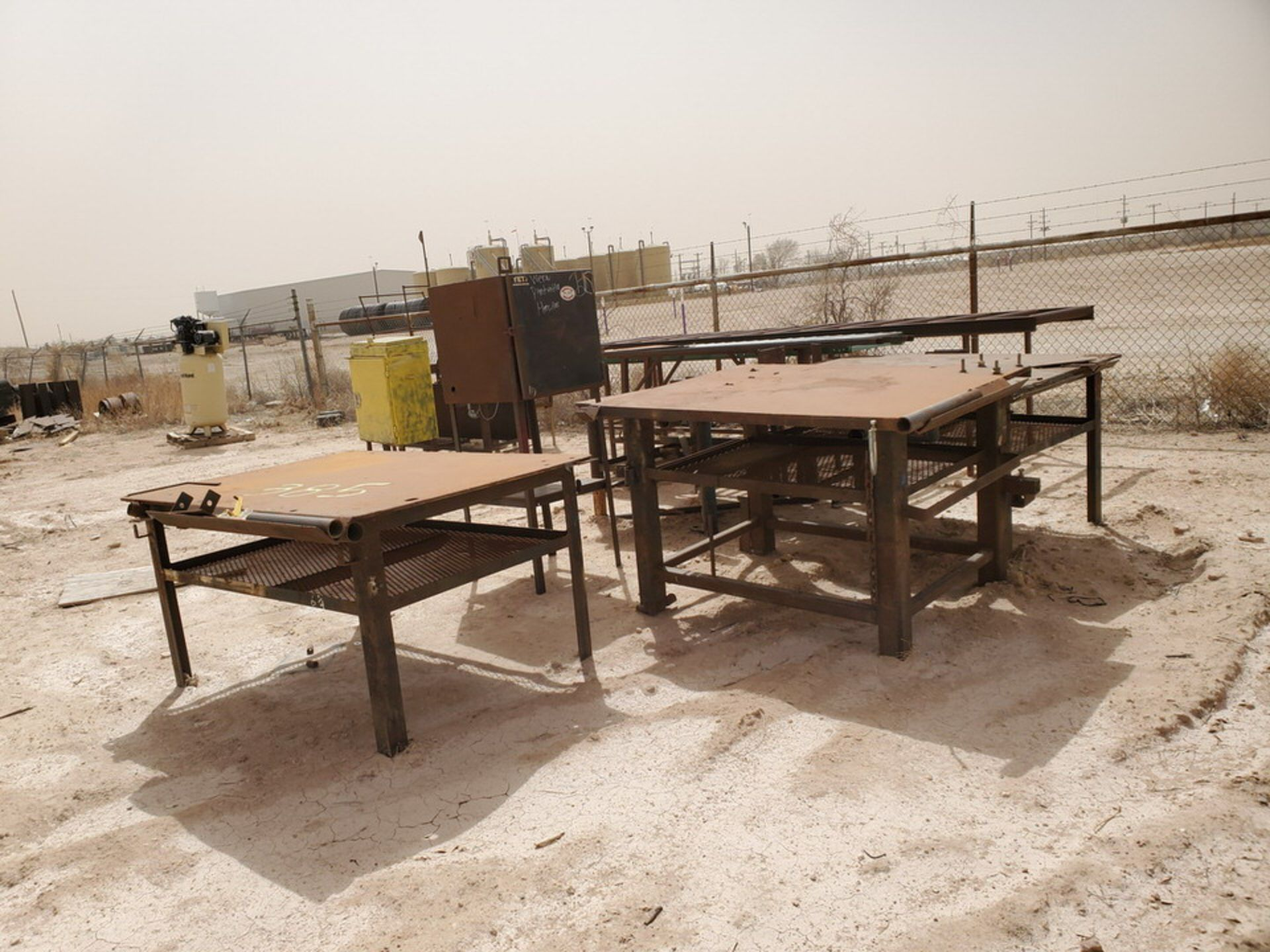 Assorted Matl. To Include But Not Limited To: (3) Welding Tables, Rolling Conveyor, Storage - Image 2 of 11