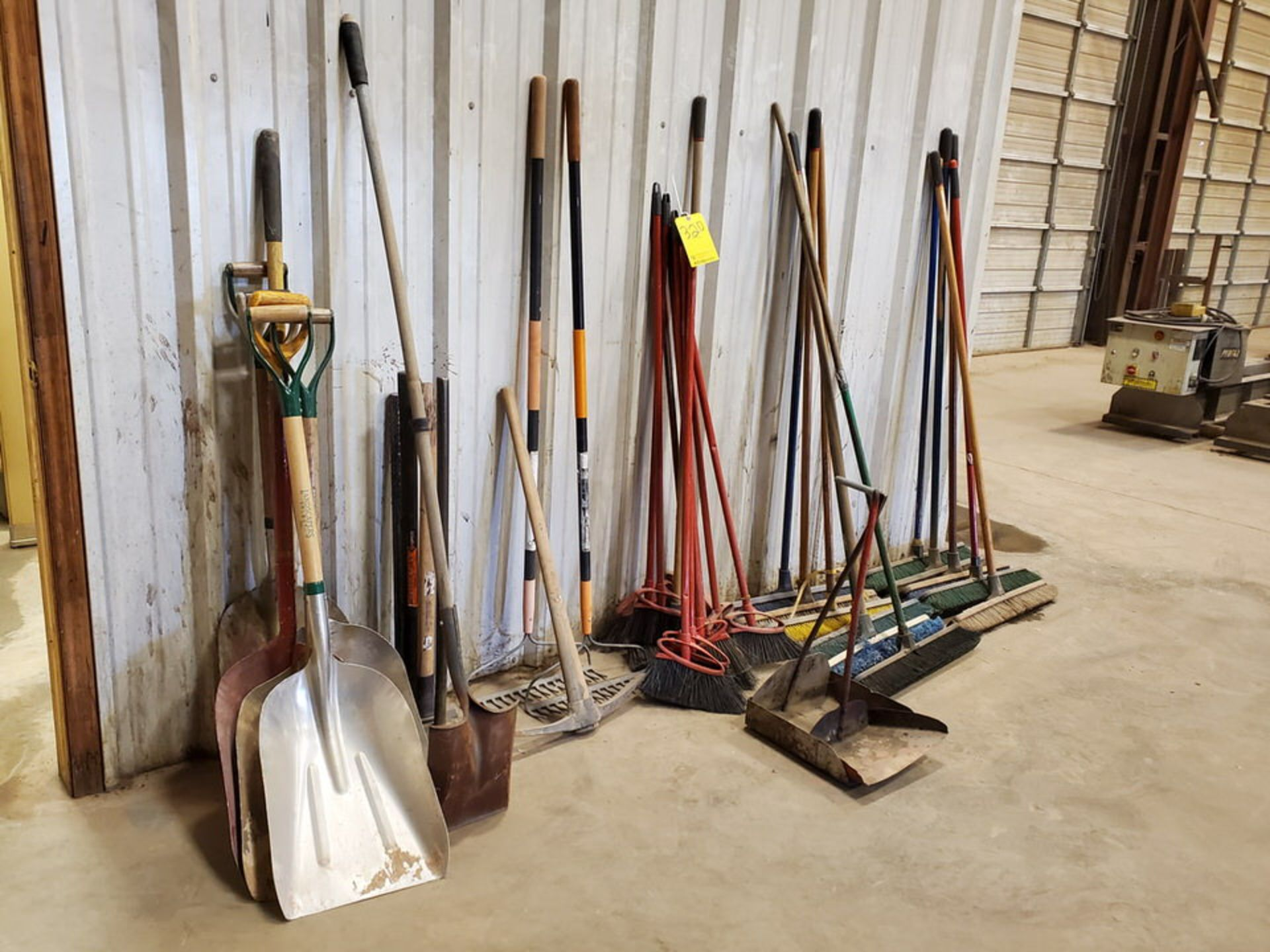 Assorted Cleaning & Yard Matl To Include But Not Limited To: Brooms, Shovels, Rakes, Dust Pans, - Image 6 of 6