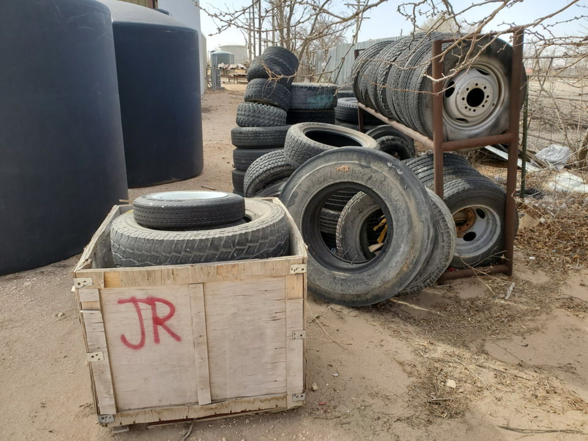 Assorted Tires W/ Rack - Image 3 of 9