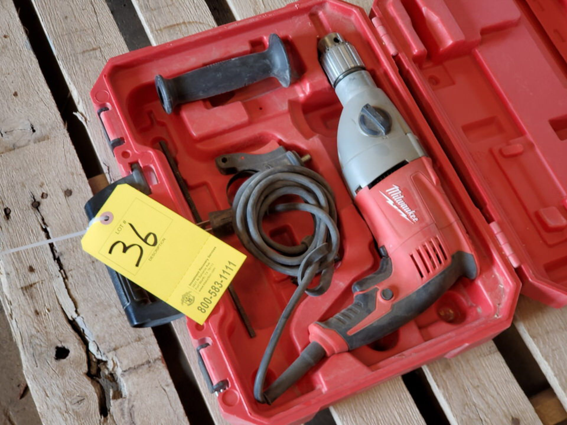 """Milwaukee 1/2"""" Hammer Drill 120V, 7.5A - Image 2 of 3"""