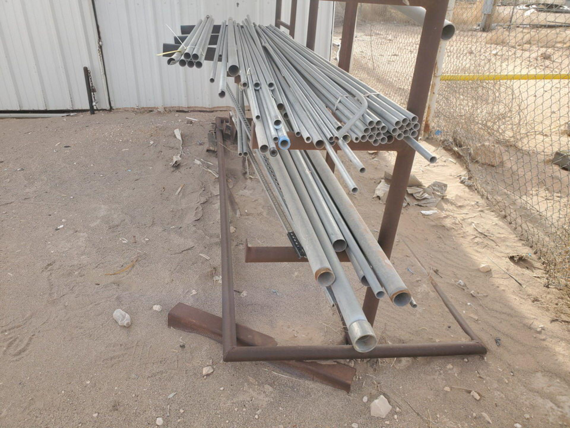 "PVC & Alum. Pipe W/ Conduit Size Range: 1/2"" - 4"" W/ Rack - Image 3 of 18"