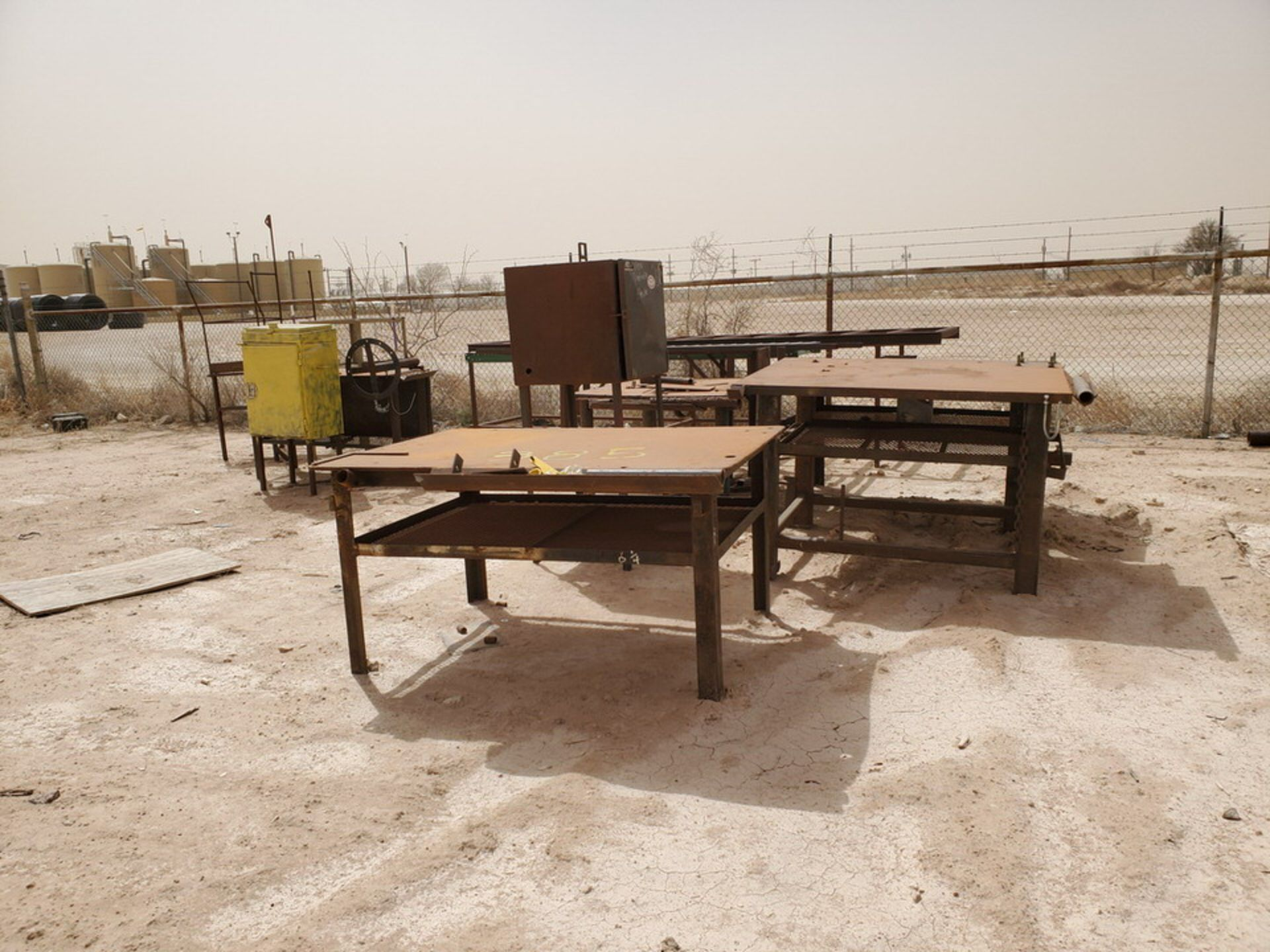 Assorted Matl. To Include But Not Limited To: (3) Welding Tables, Rolling Conveyor, Storage