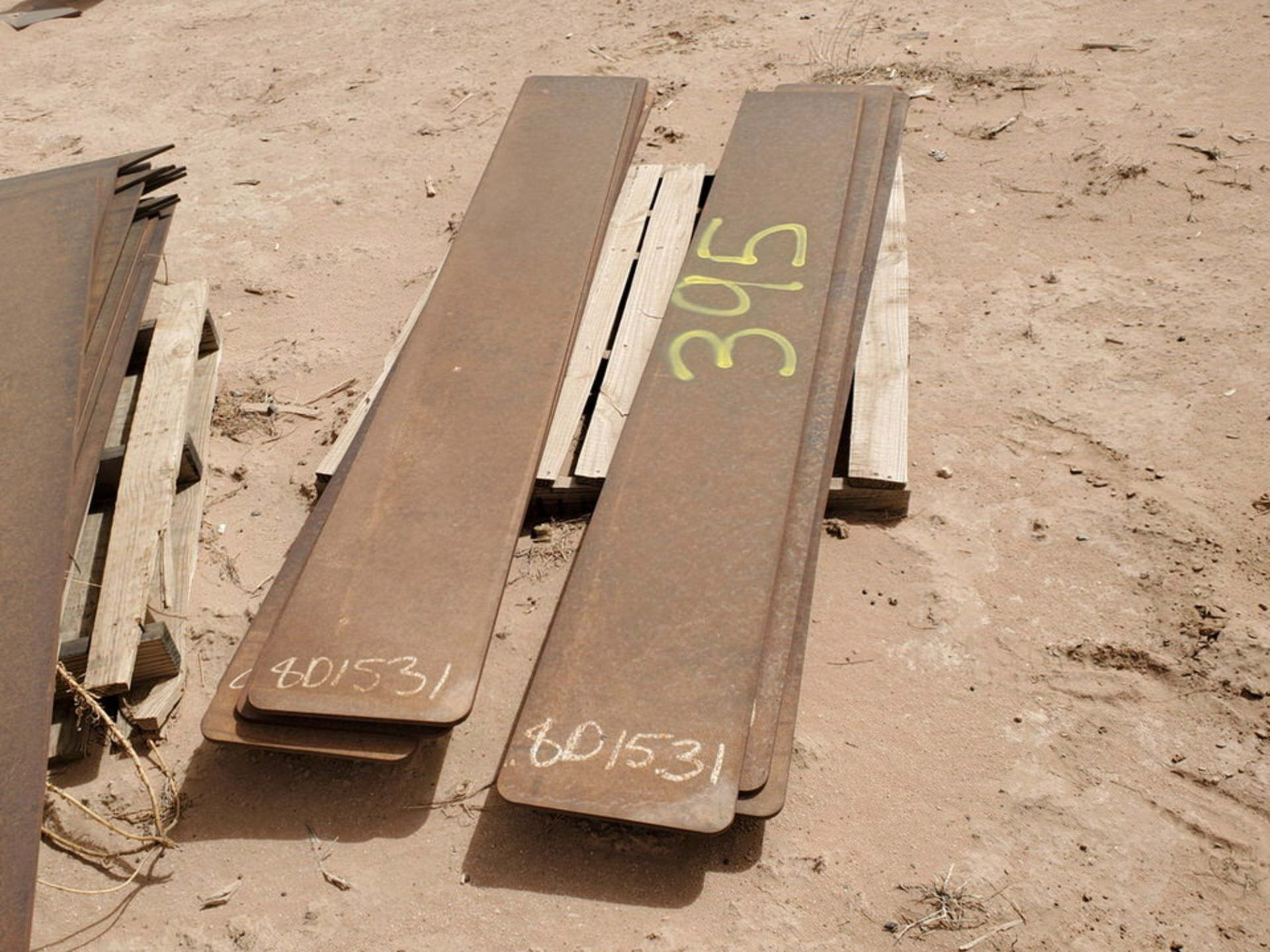 "Stl. Plates 12"" x 7'3"" - 14"" x 56"" - Image 2 of 7"
