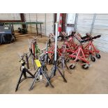 Giant 5 & Other (21) Pipe Stands & Rollers 1K-5K Cap.