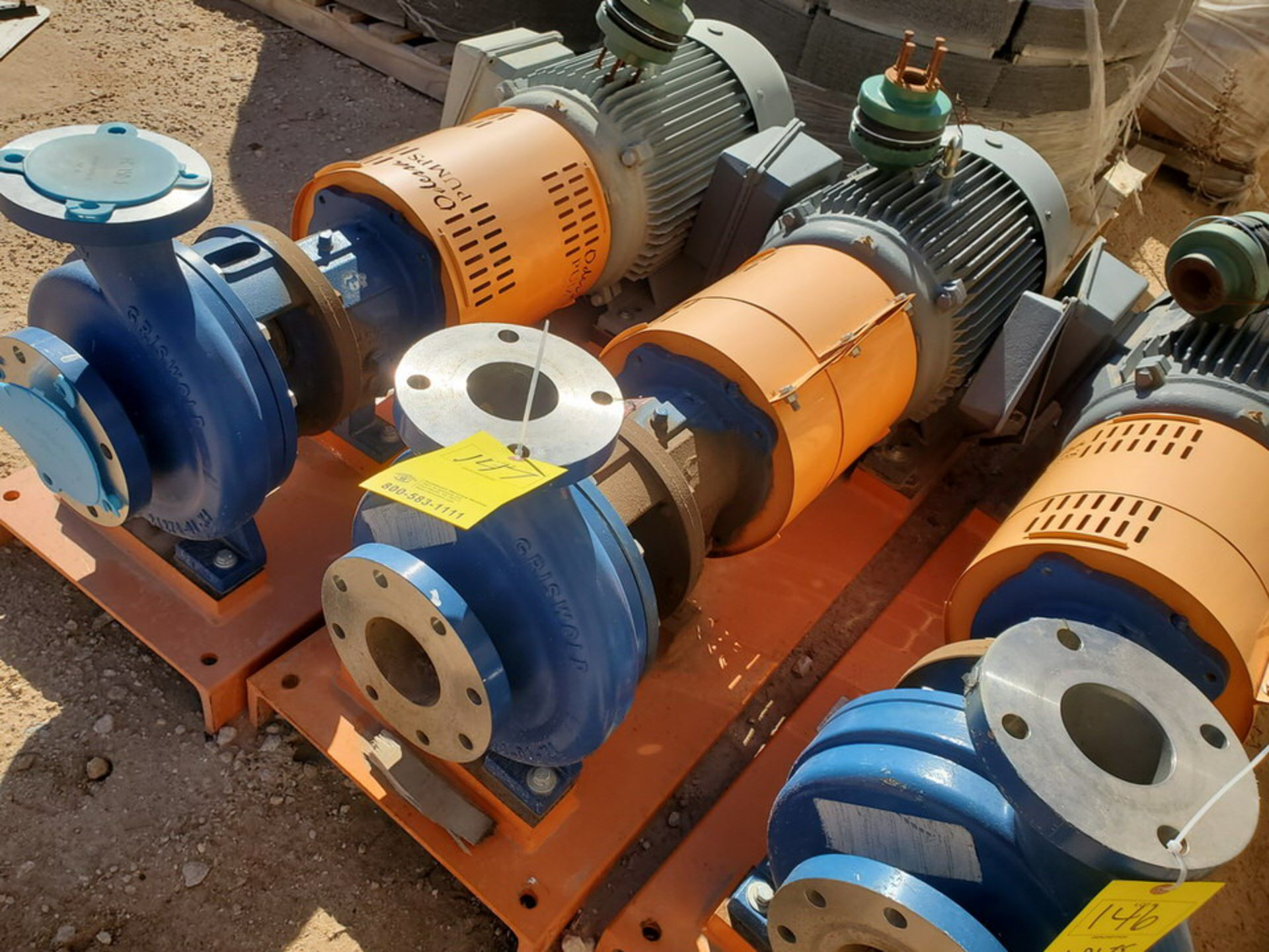 2018 Griswold 811M Centrifugal Pump Size: 4 x 3-10, 7.83 Imp Dia; W/ 50HP Motor - Image 3 of 8