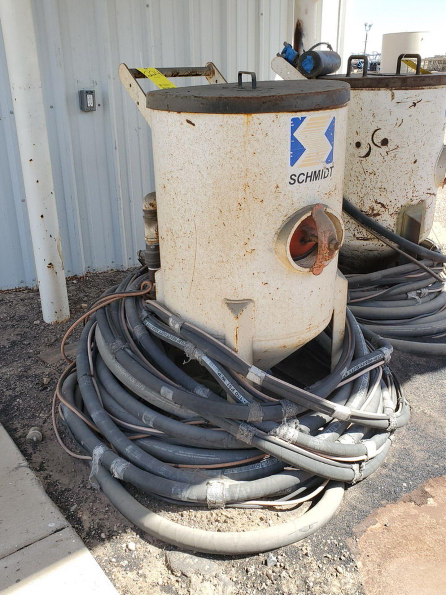 Schmidt 12' Portable Abrasive Sand Blaster Pot 150psi@250F, -20F@150psi; NB# 10649 - Image 3 of 9