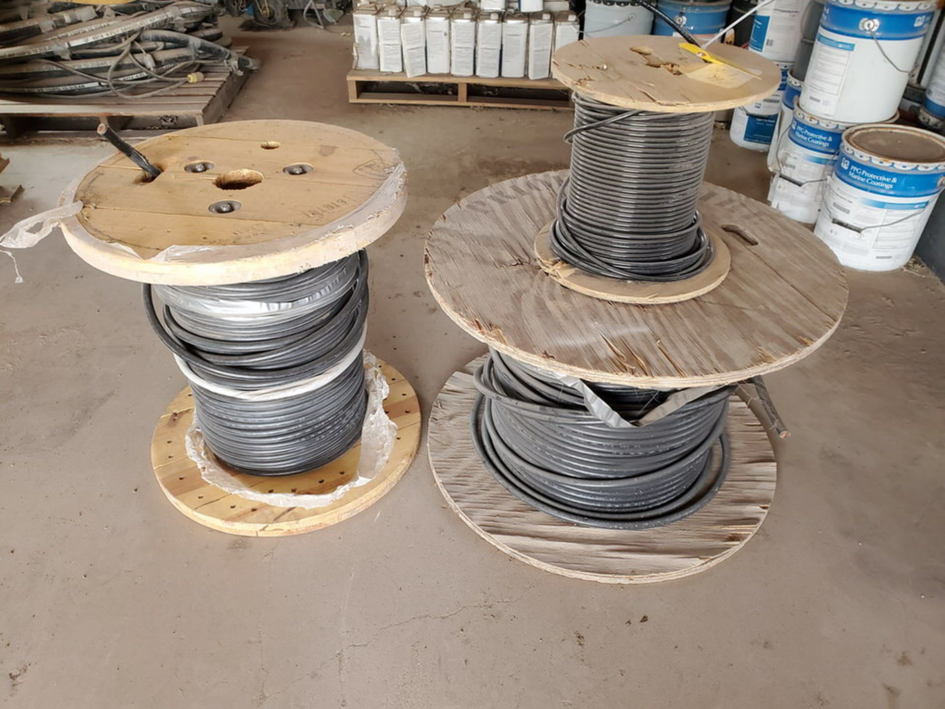 (3) Spools Assorted Wire 4 AWG & Other - Image 2 of 12