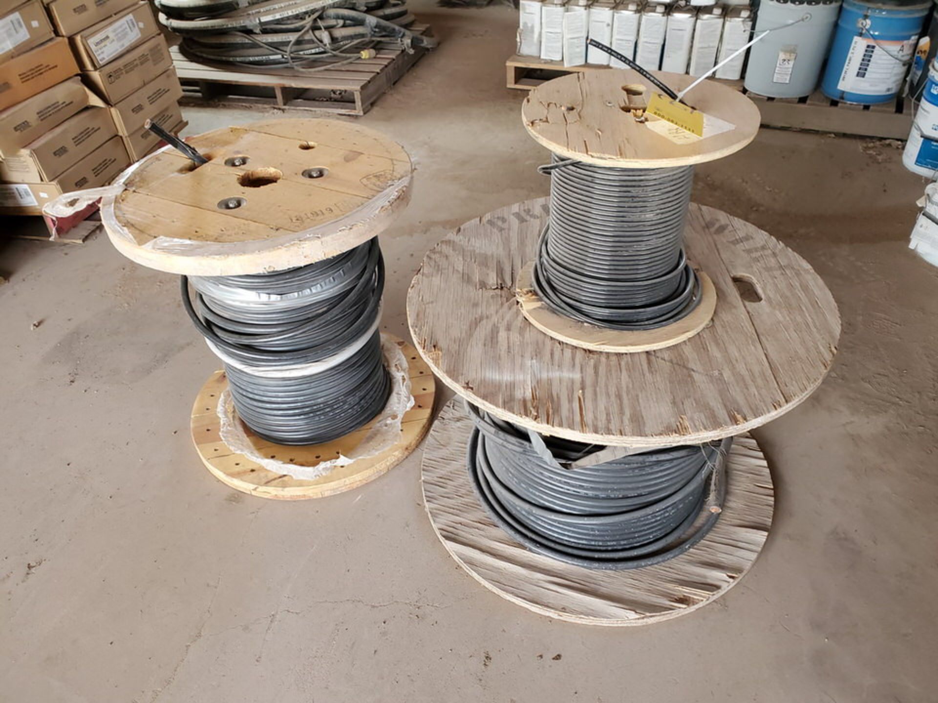 (3) Spools Assorted Wire 4 AWG & Other