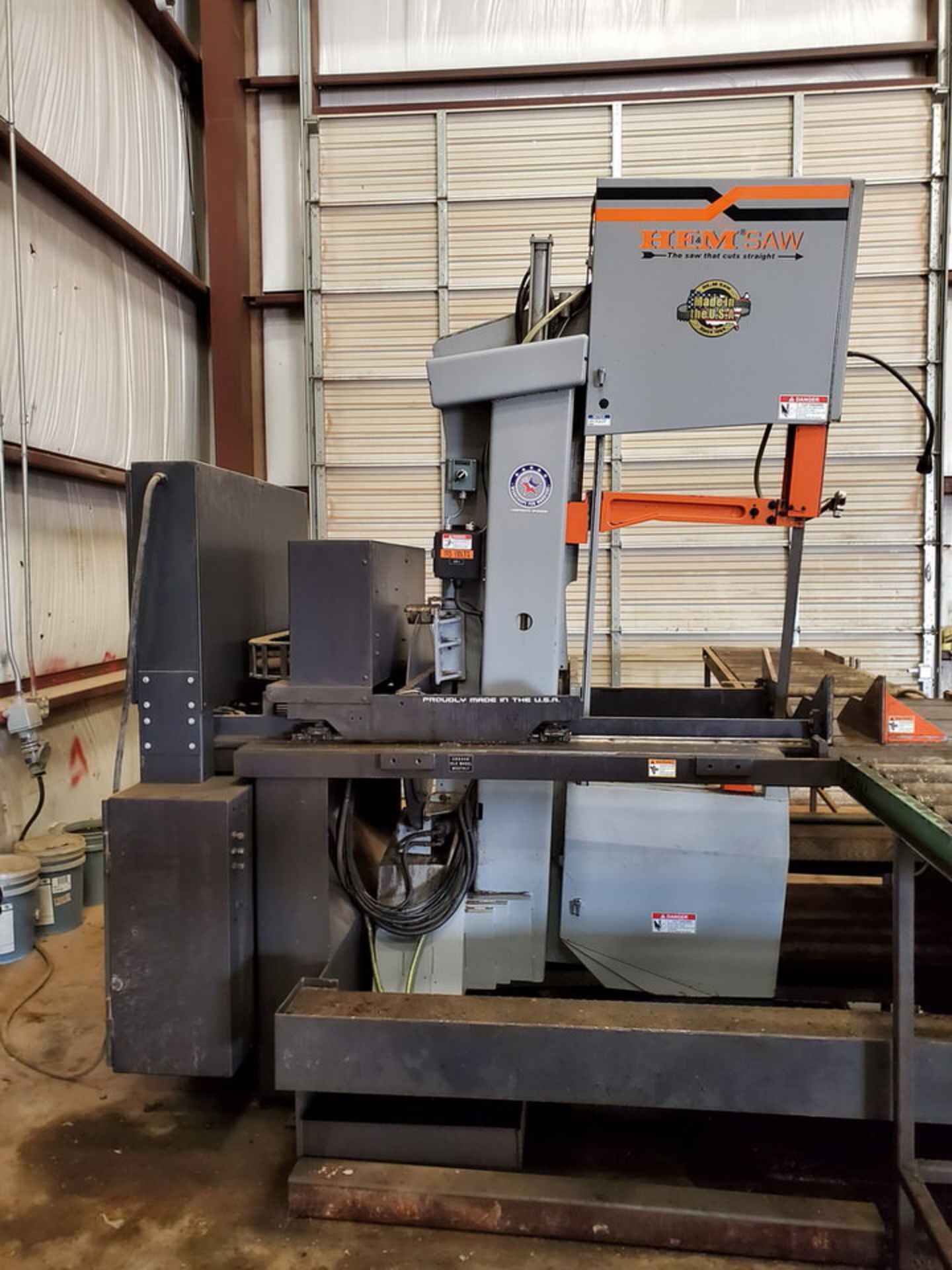 "HEM VT140HM-60-CTS Vertical Bandsaw 440V, 10HP, 23.61A, Blade L: 1-1/2"" x 20' x .050""; W/ Spare - Image 2 of 16"