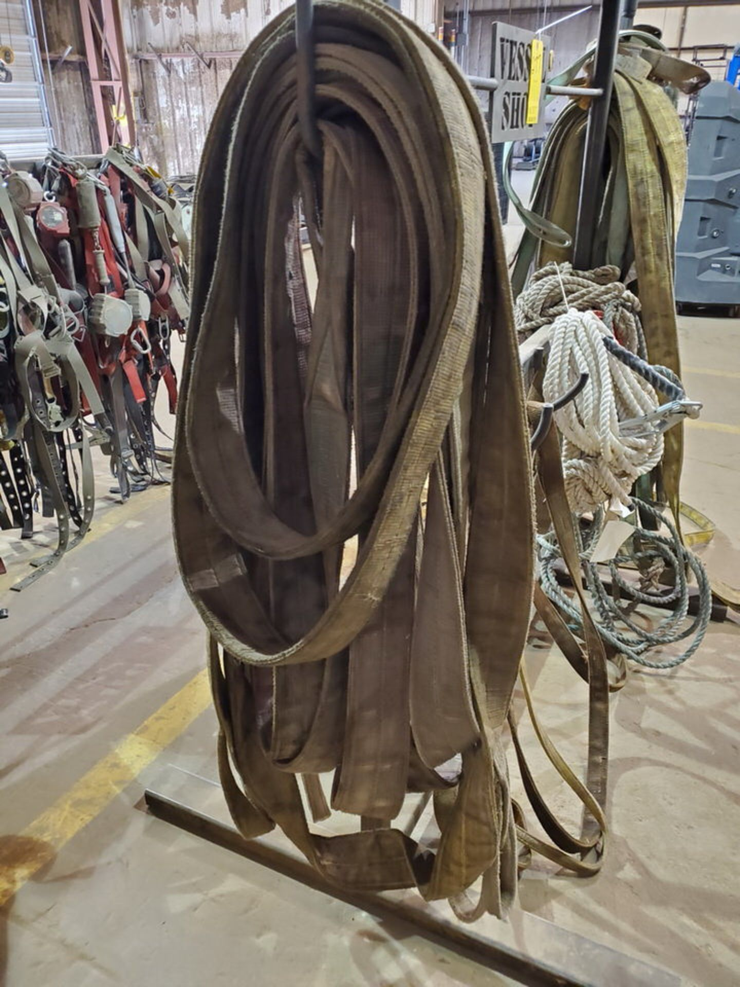 Assorted Lifting Poly Slings, Rope W/ Rack - Image 3 of 7