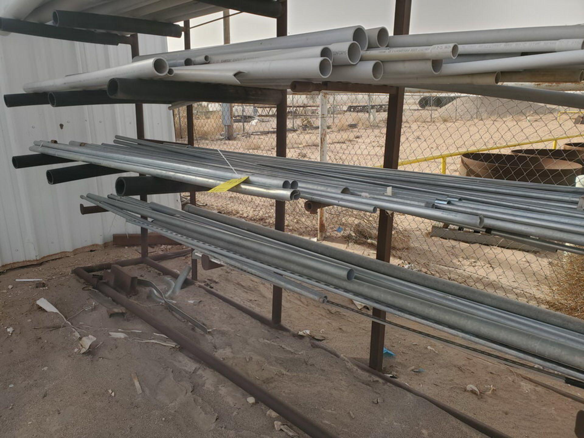 "PVC & Alum. Pipe W/ Conduit Size Range: 1/2"" - 4"" W/ Rack - Image 9 of 18"