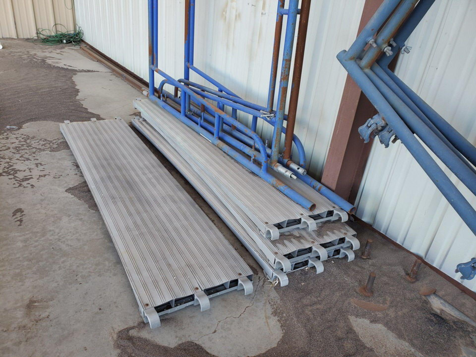 Scaffold W' 16' Fixed Alum. Ladder - Image 9 of 10
