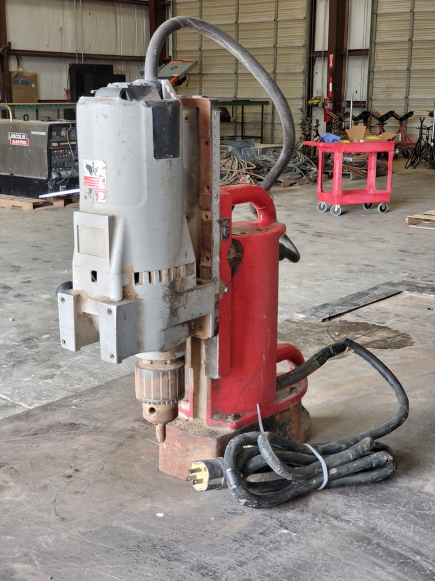 Milwaukee Mag Drill 120V, 12.5A, 60HZ, 250/500RPM - Image 2 of 5