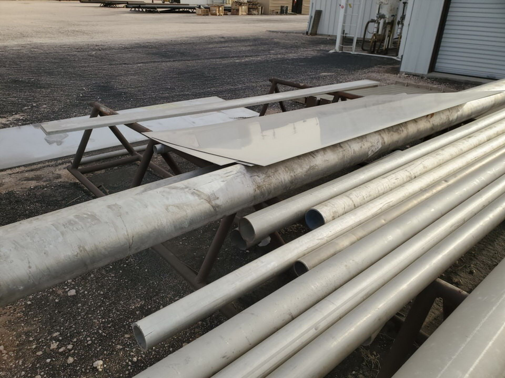 Assorted Matl. To Include But Not Limited To: S/S Flat Bar, Pipe & Sheets (Rack Excluded) - Image 10 of 22