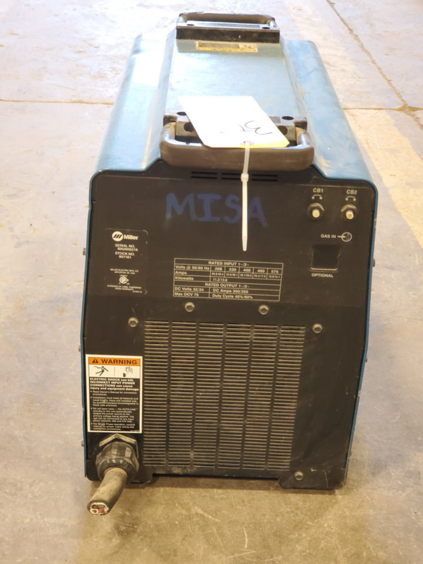 Miller Plasma Cutter 208-575V, 1/3PH, 50/60HZ - Image 3 of 5