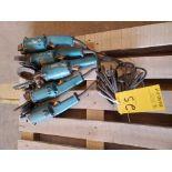 "Makita (5) 5"" Angle Grinders 120V, 10A"
