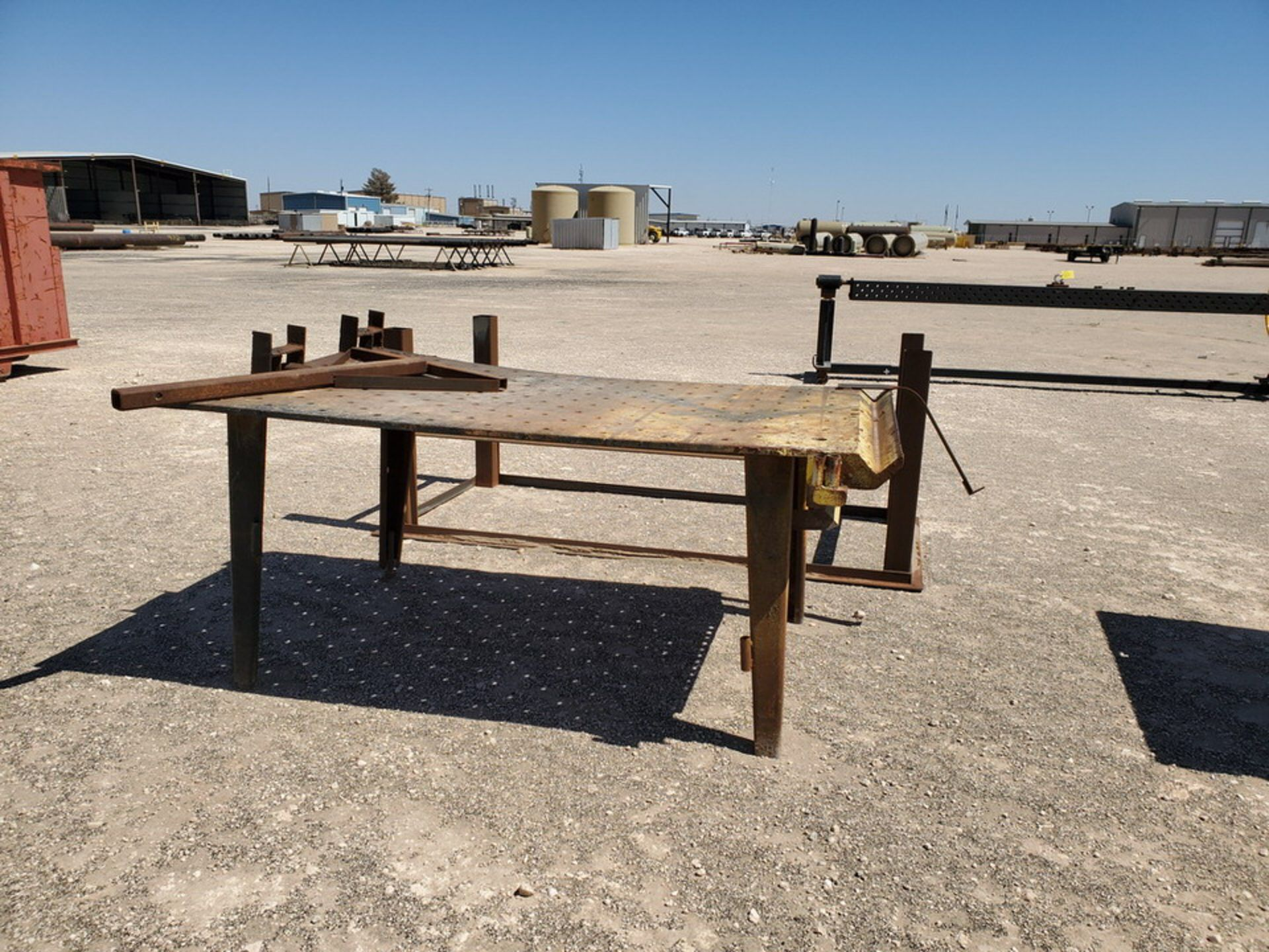 "(2) Welding Tables (1) 4' x 10'6"" x 3', (1) 48"" x 76"" x 32""; W/ Table Frame, 42"" x 78"" x 36"" - Image 7 of 8"