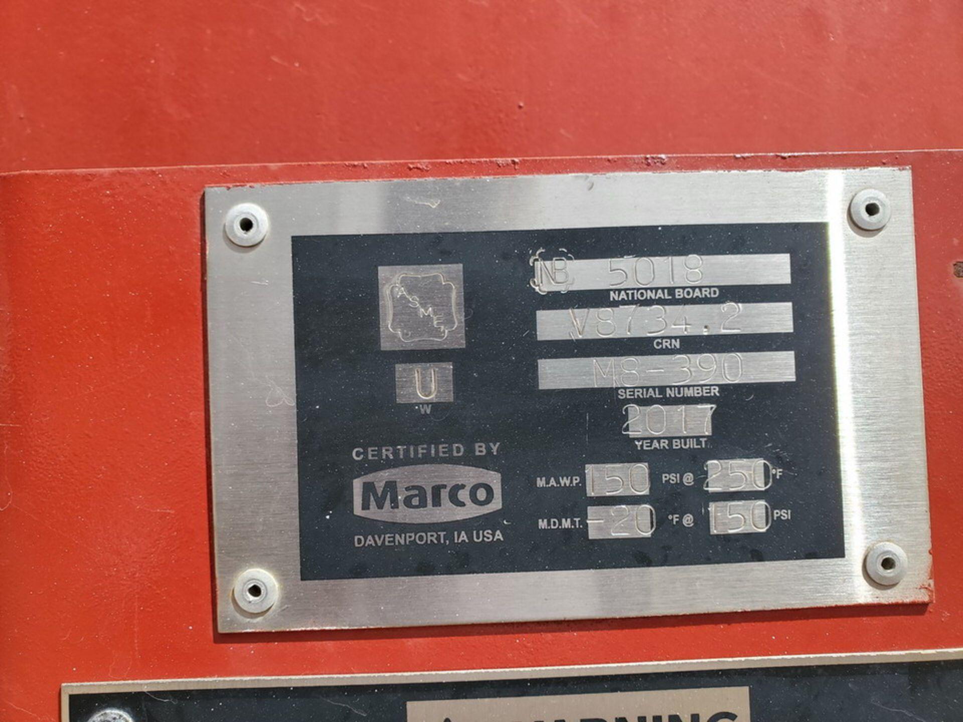 "2017 Marco Sand Blast Master Portable Sandblast Unit 150psi@250F, -20F@150psi, Vessel Dims: 48"" Seam - Image 15 of 18"