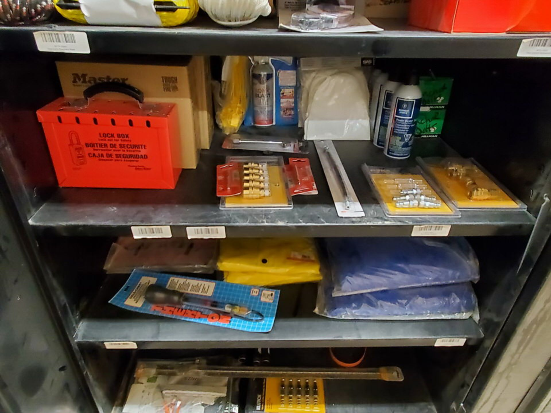 Metal Storage Locker To Include But Not Limited To: First Aid Refill Kits, Assorted Fittings, - Image 4 of 13