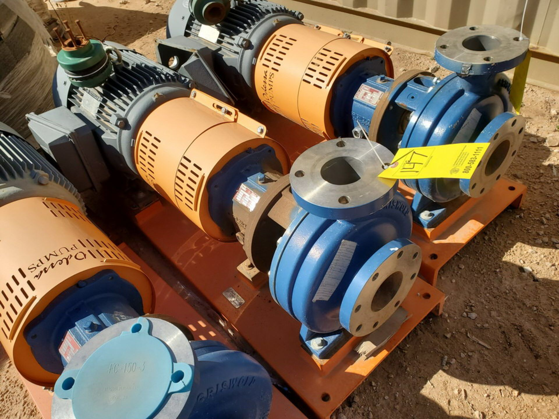 2018 Griswold 811M Centrifugal Pump Size: 4 x 3-10, 7.83 Imp Dia; W/ 50HP Motor - Image 2 of 8
