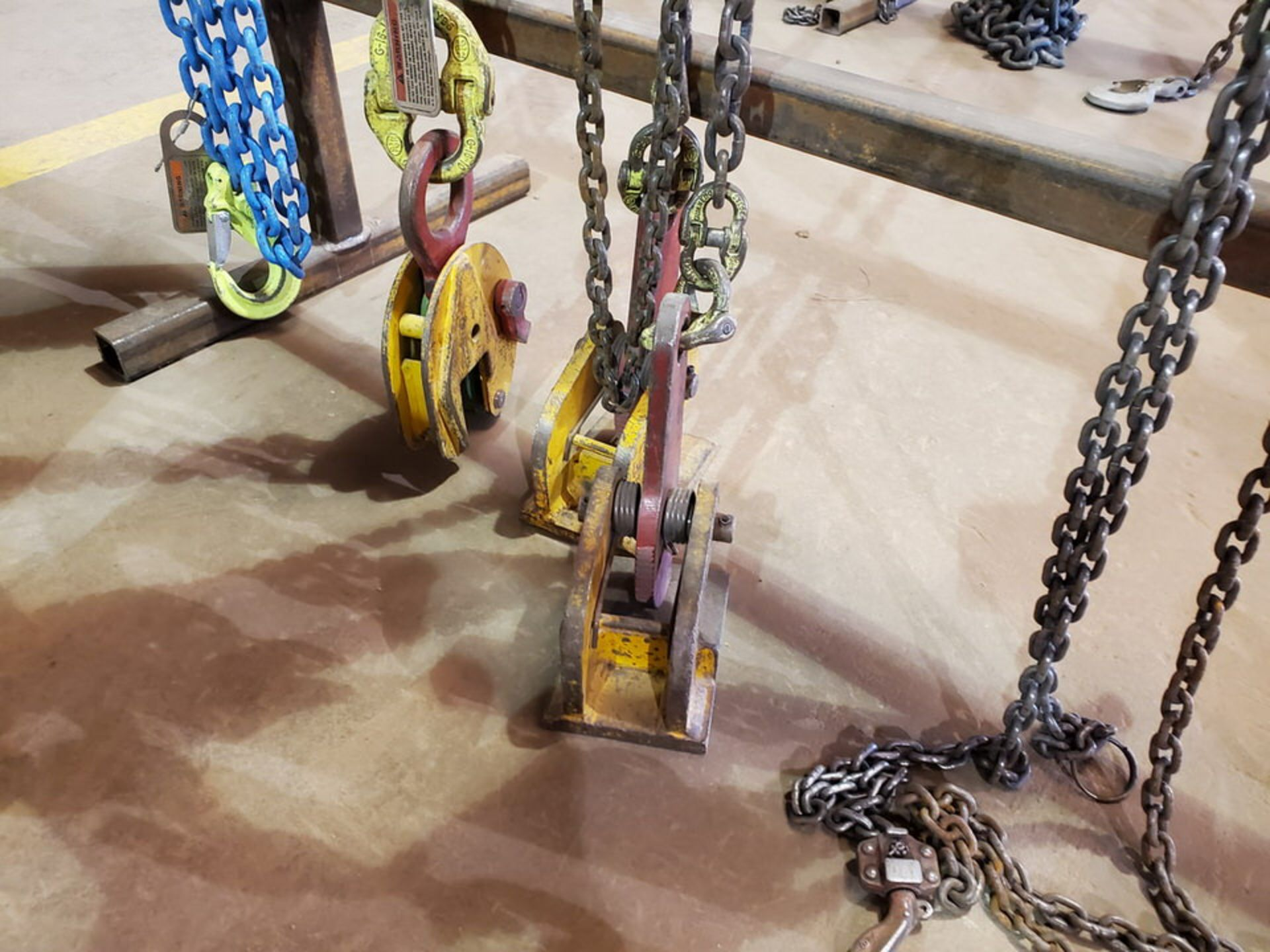 Assorted Lifting Chains & Straps W/ Rack 1 Ton & Other - Image 6 of 8