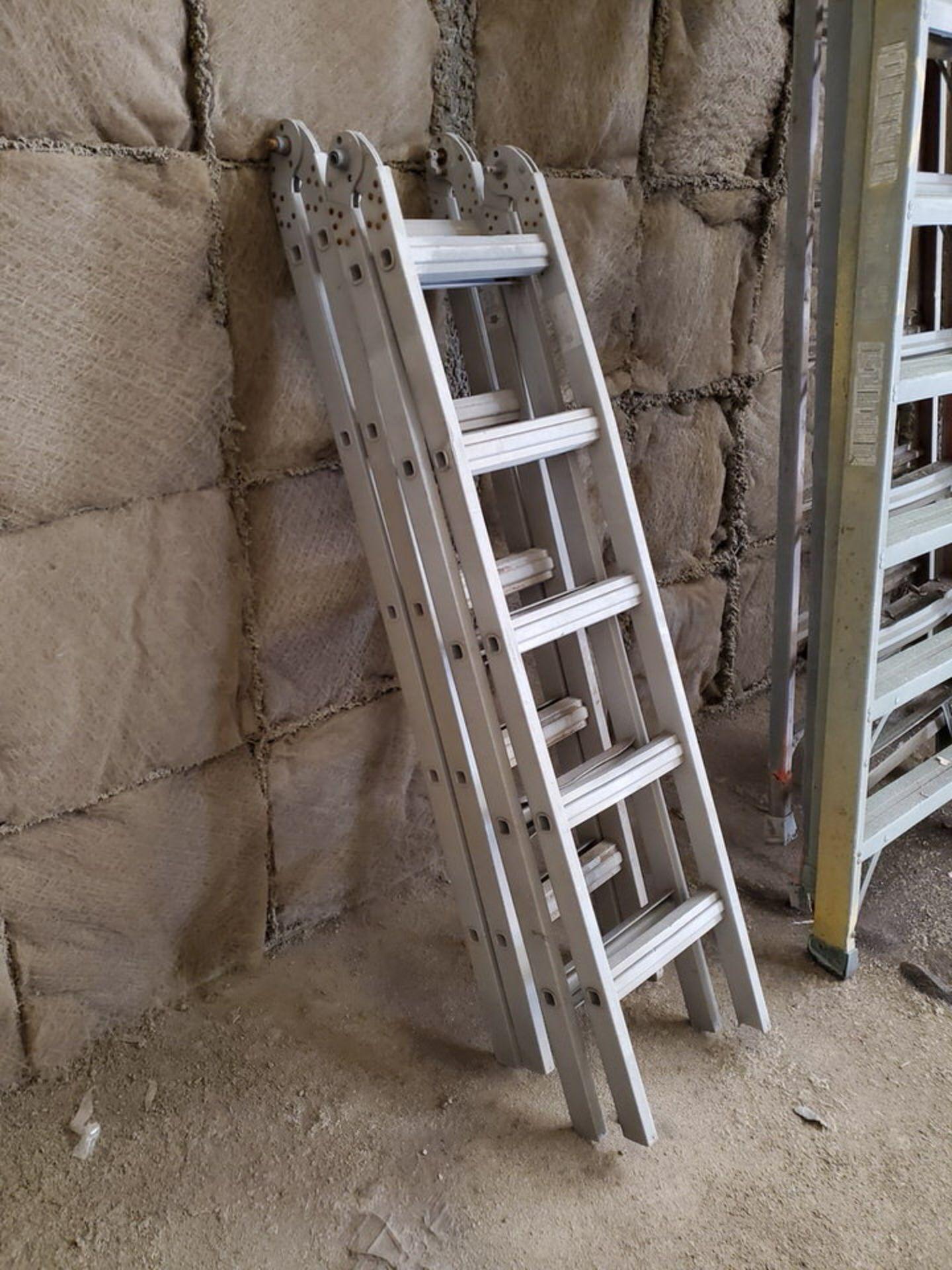 (4) Assorted Fiberglass Platform Ladders Sizes: (2) 4', (2) 14' - Image 4 of 4