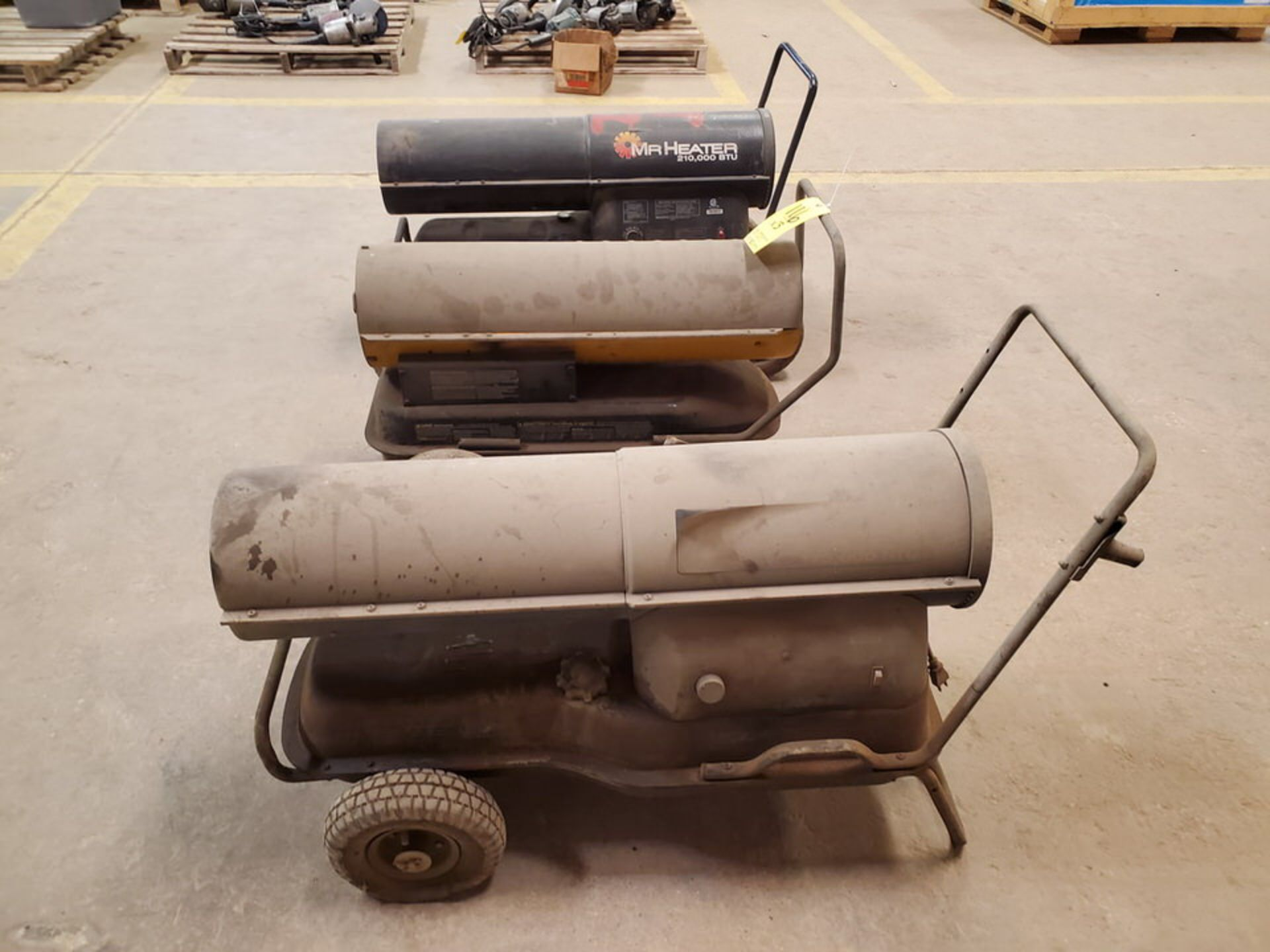 (3) Torpedo Heaters BTU: 175-215K (Mfg- Mr. Heater & etc.)