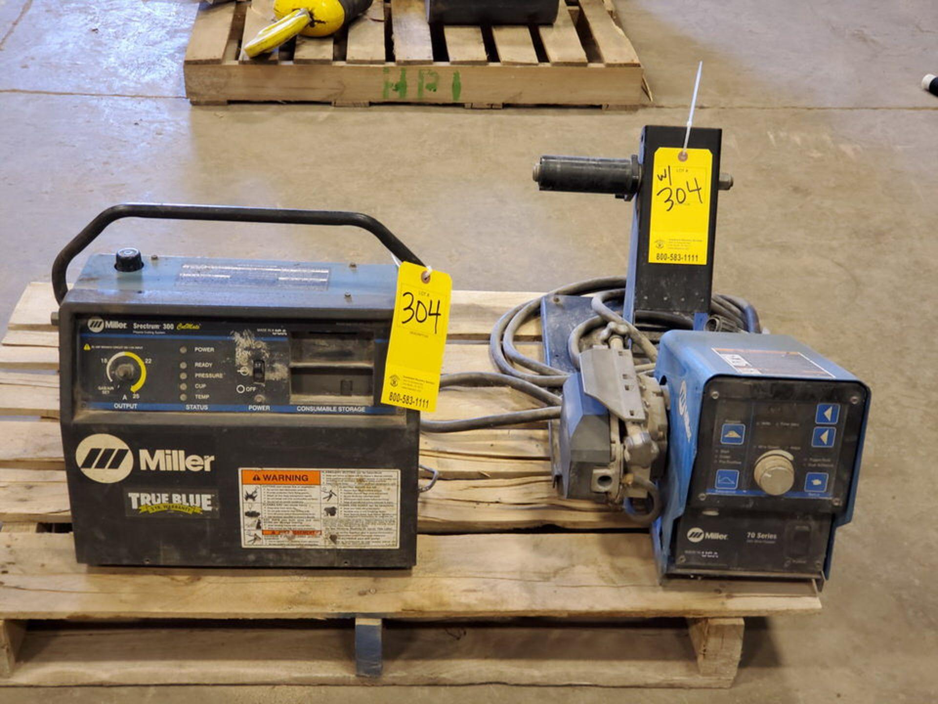 Miller Spectrum 300 Plasma Cutter 115/230V, 26/17A, 1PH, 60HZ; W/ 70 Series 24V Wire Feeder, 10A,