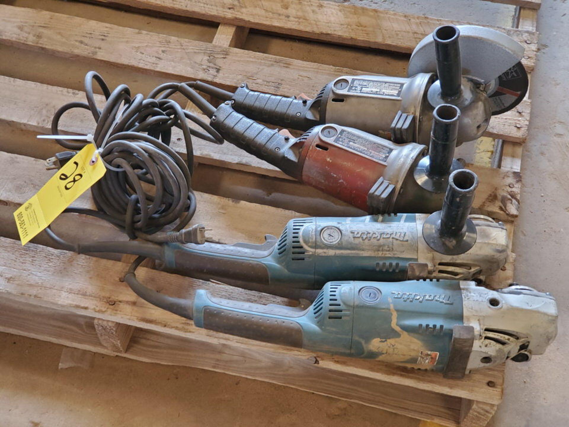 """Makita (4) 7""""-9"""" Angle Grinders 120V, 15A - Image 3 of 4"""