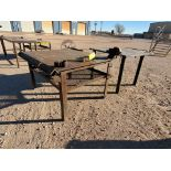 "(2) Stl Welding Tables (1) 60"" x 54"" x 34""H, W/ 5"" Vise; (1) 48"" x 61-1/2"" x 36""H"