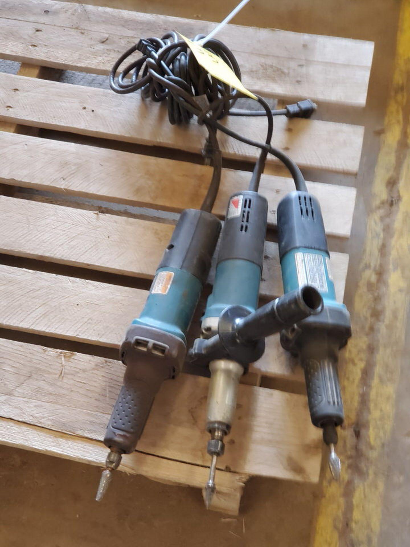 """Makita (3) 1/4"""" Die Grinders 120V, 3.5A"""