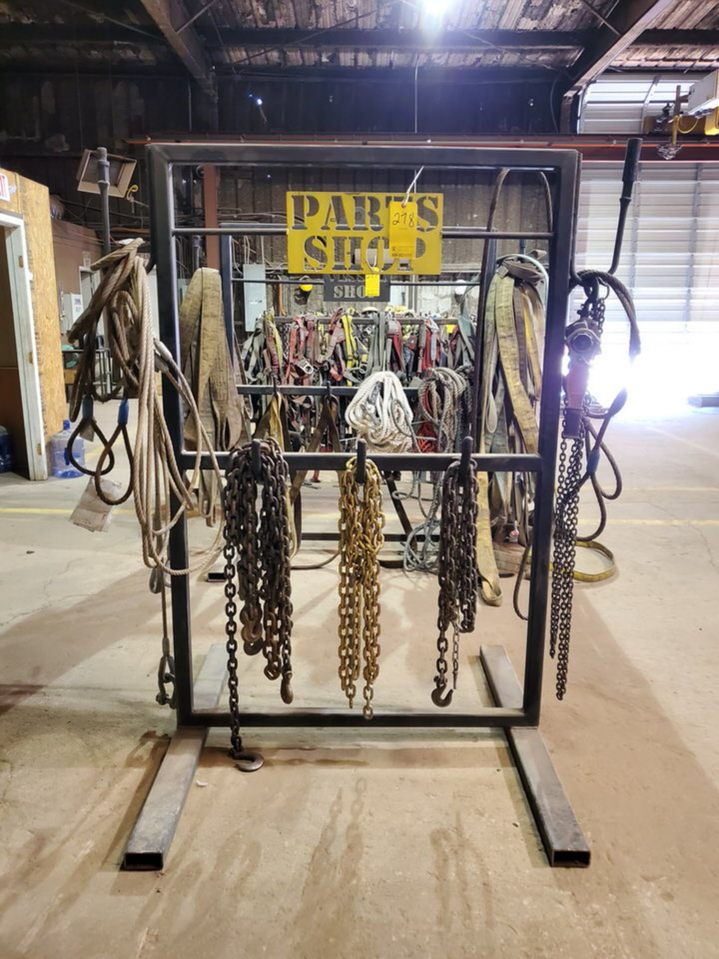 Assorted Lifting Stl Slings & Chains W/ Rack - Image 2 of 7