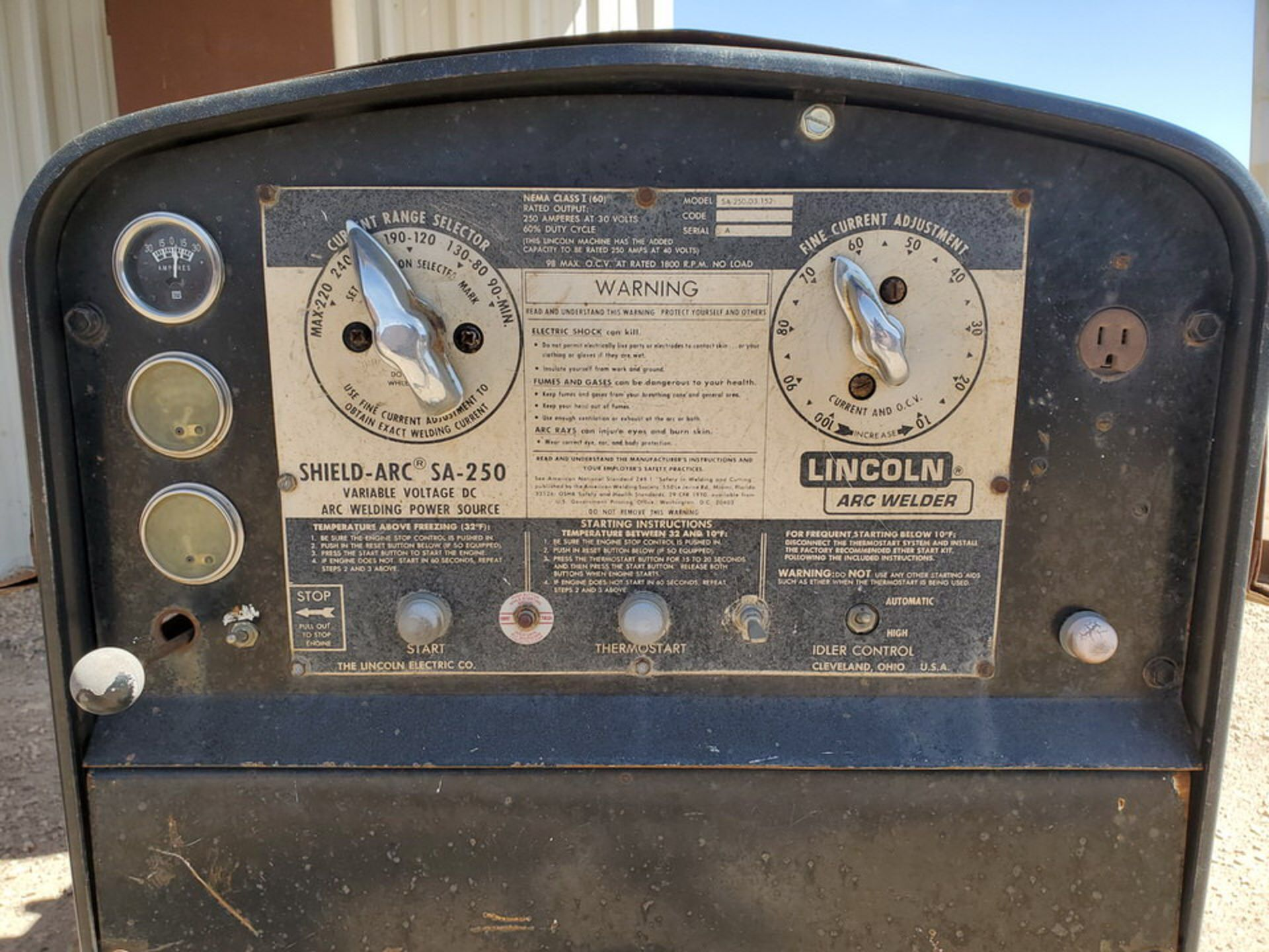 Lincoln Sa-250D3.152 Arc Welder - Image 7 of 11