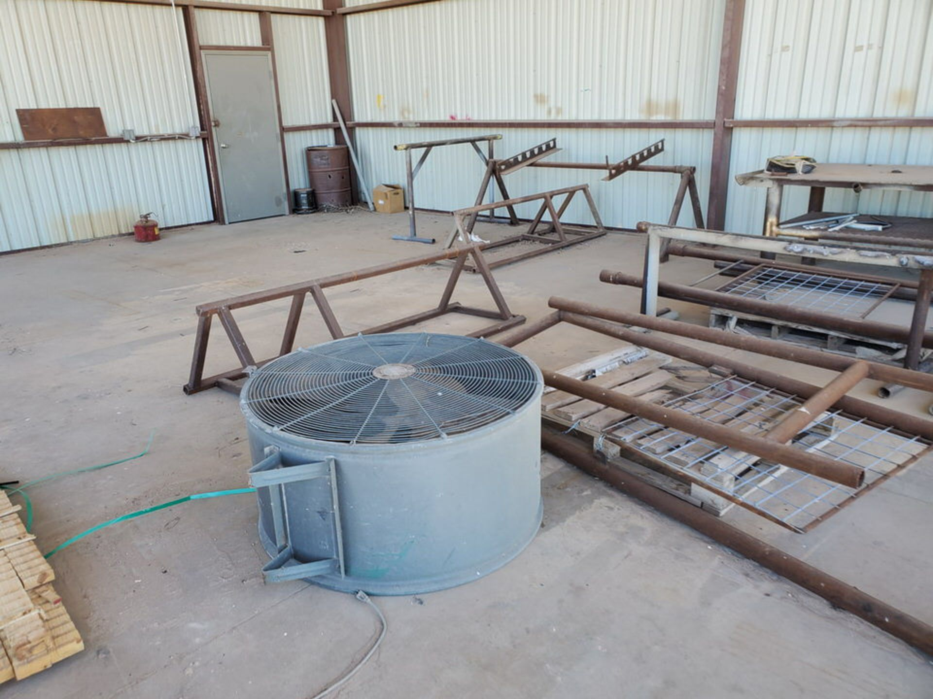 "Misc. Matl. To Include But Not Limited To: 42"" Drum Fan, Saw Horses, Welding Table, etc. - Image 6 of 10"