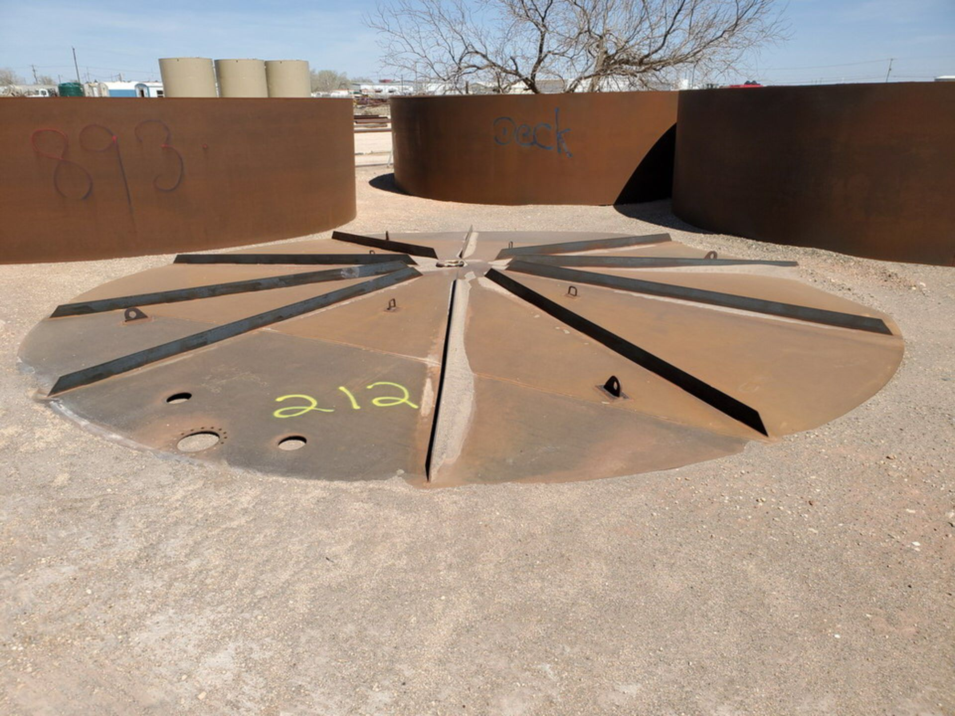 """(2) API Tank Roof Tops 21'8"""" Dia.; (Tank Decks Excluded) - Image 4 of 6"""