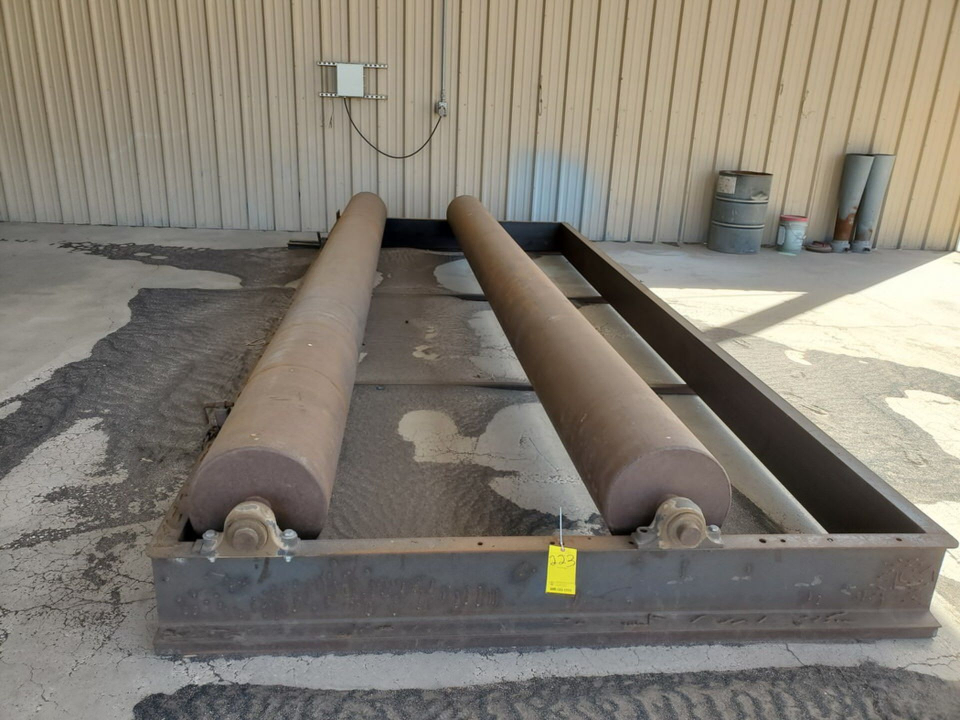 """Turn Roll 8' x 20'6"""", 16"""" O.D. Rolls, 1' Base; Overall Dims: 9'8""""W - Image 2 of 8"""