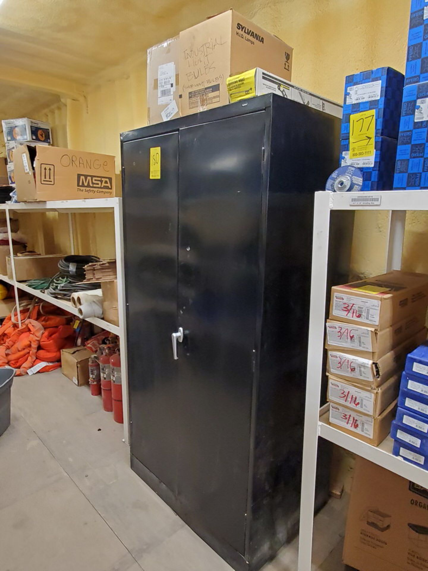 Metal Storage Locker To Include But Not Limited To: First Aid Refill Kits, Assorted Fittings,