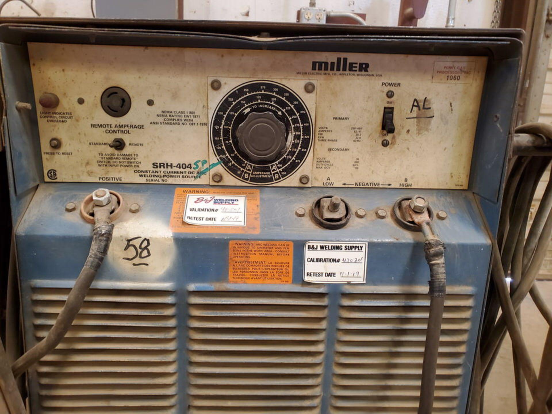 Miller SRH 404 Multiprocessing Welder 230/460V, 82/41A, 3PH, 400A, 60HZ - Image 4 of 6