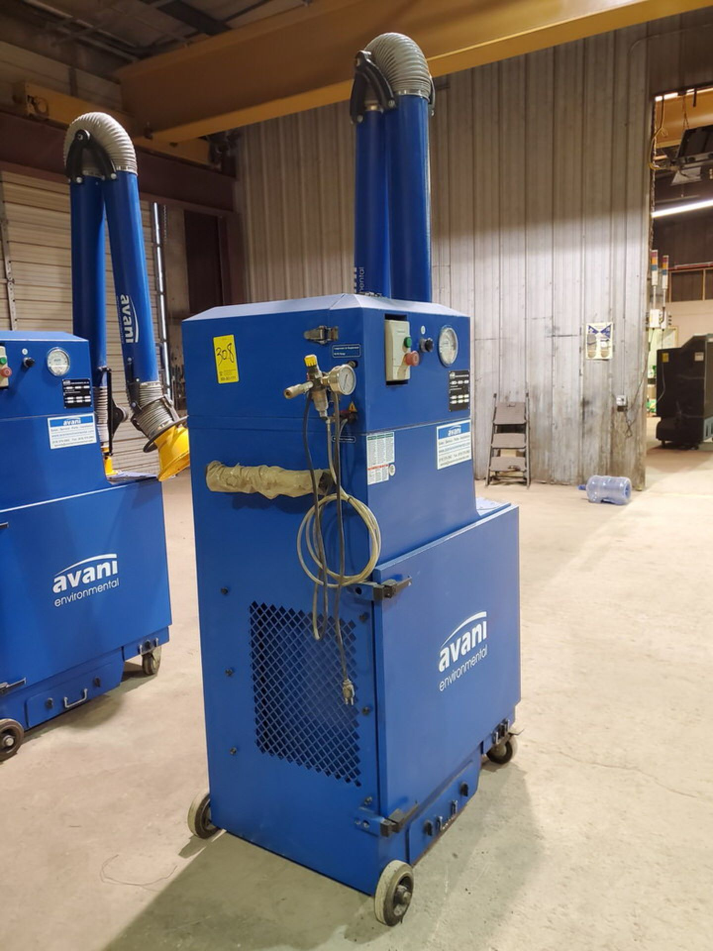 2017 Avanti SPC-2000 Portable Dust Collector 1-1/2HP, 120V, 60HZ, 1PH, 14A, 3450RPM