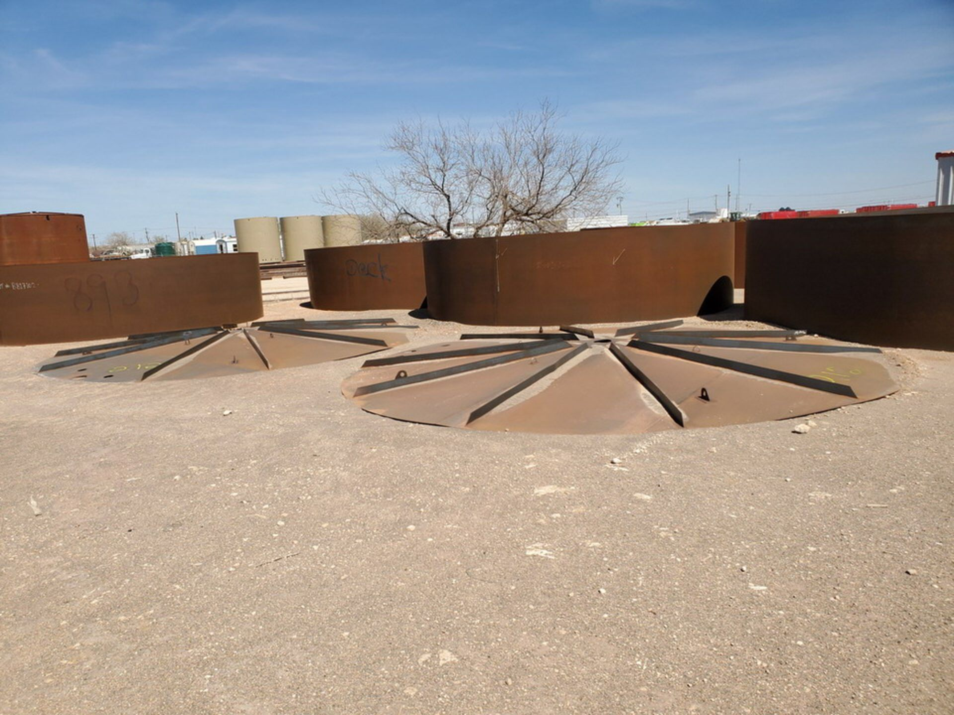 """(2) API Tank Roof Tops 21'8"""" Dia.; (Tank Decks Excluded) - Image 2 of 6"""
