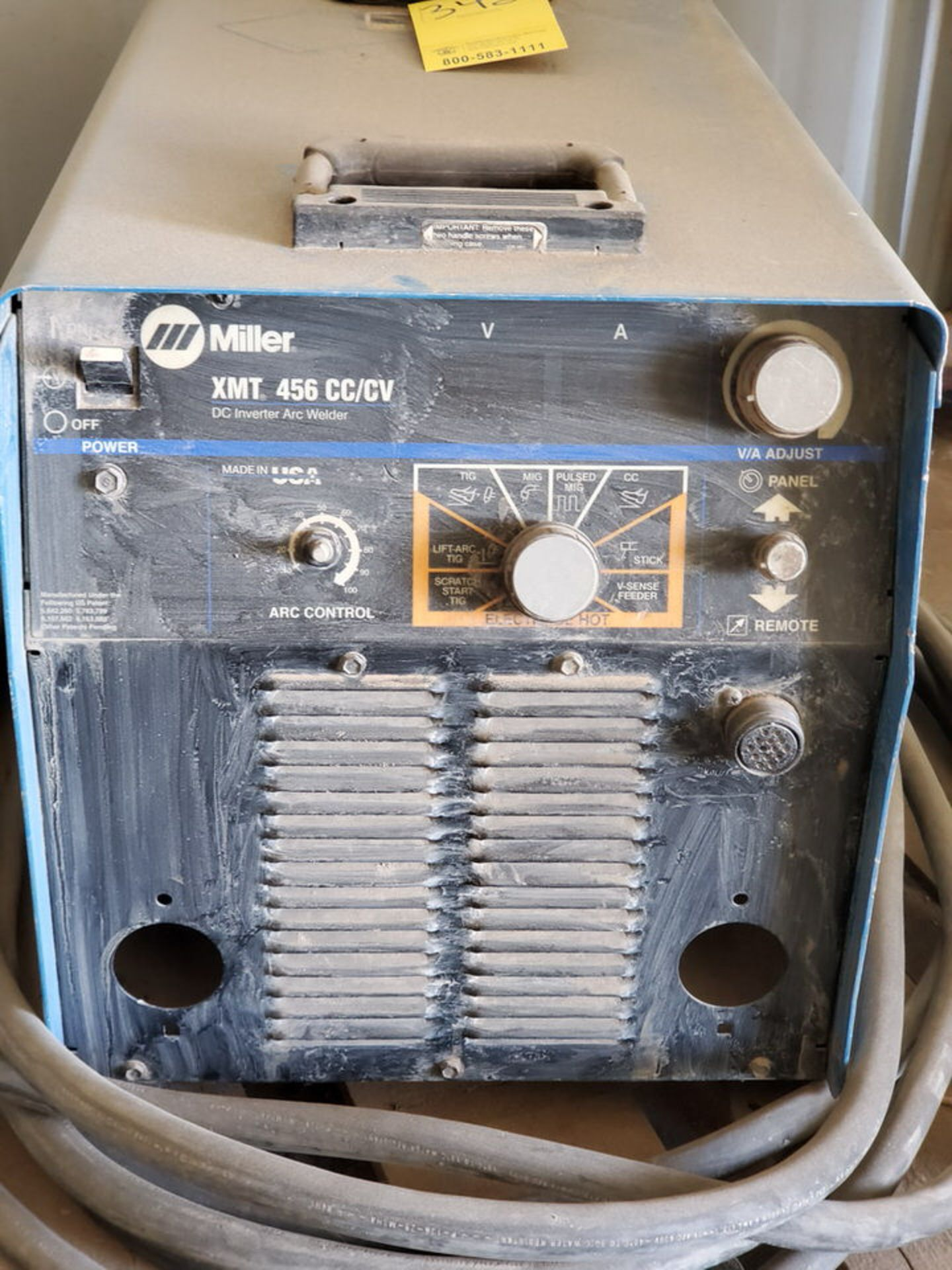 Miller XMT 456 Multiprocessing Welder 230/460V, 50.8/27.8A, 3PH, 60HZ - Image 3 of 5