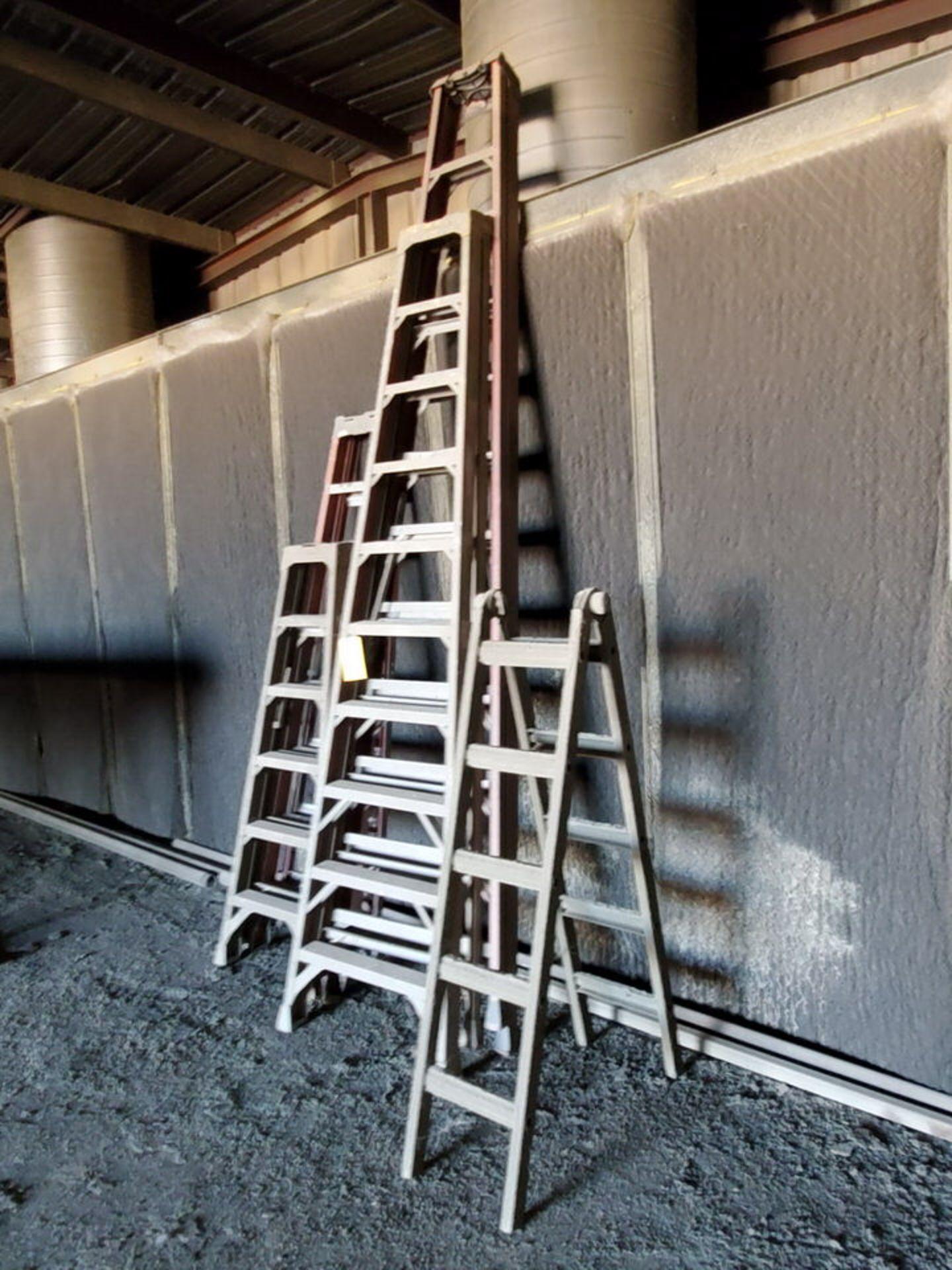 (5) Alum. Platform Ladders 8', 12', 10', (2) 6' - Image 3 of 3
