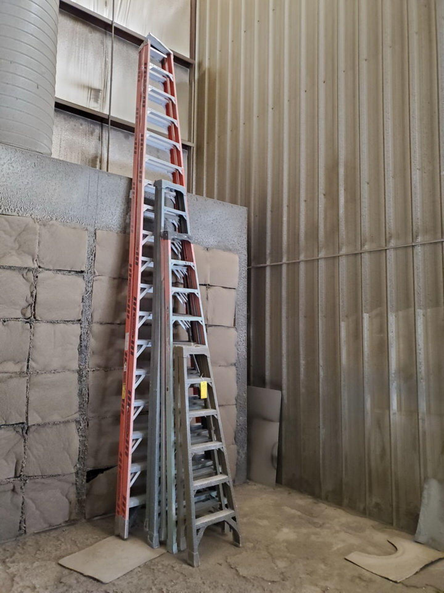 (4) Assorted Fiberglass Platform Ladders Sizes: 6', 10', 12', 18' - Image 2 of 3