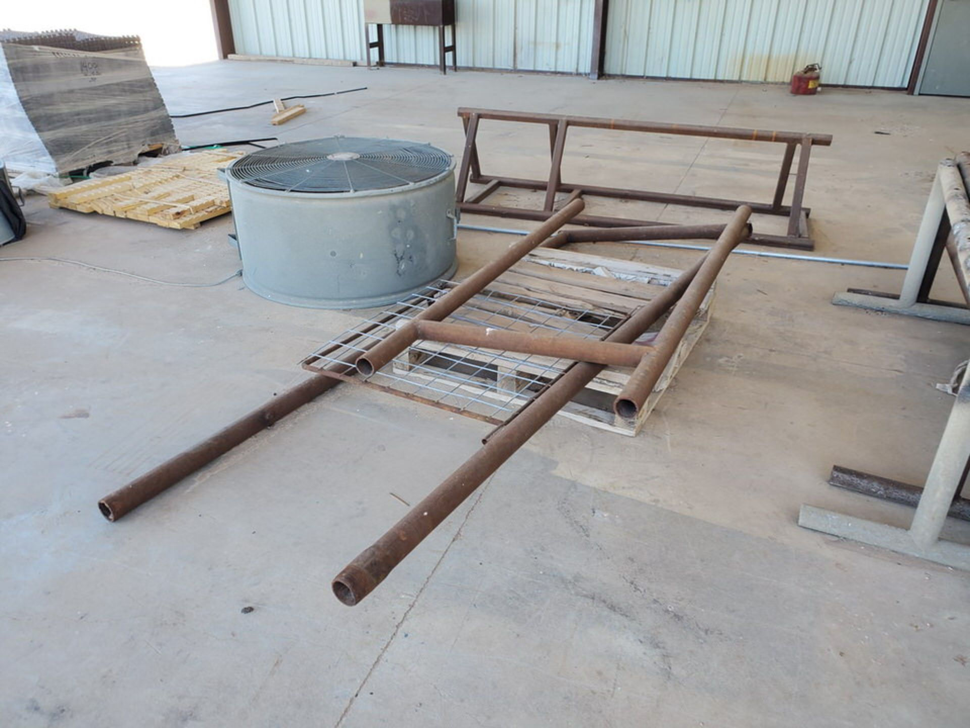 "Misc. Matl. To Include But Not Limited To: 42"" Drum Fan, Saw Horses, Welding Table, etc. - Image 4 of 10"