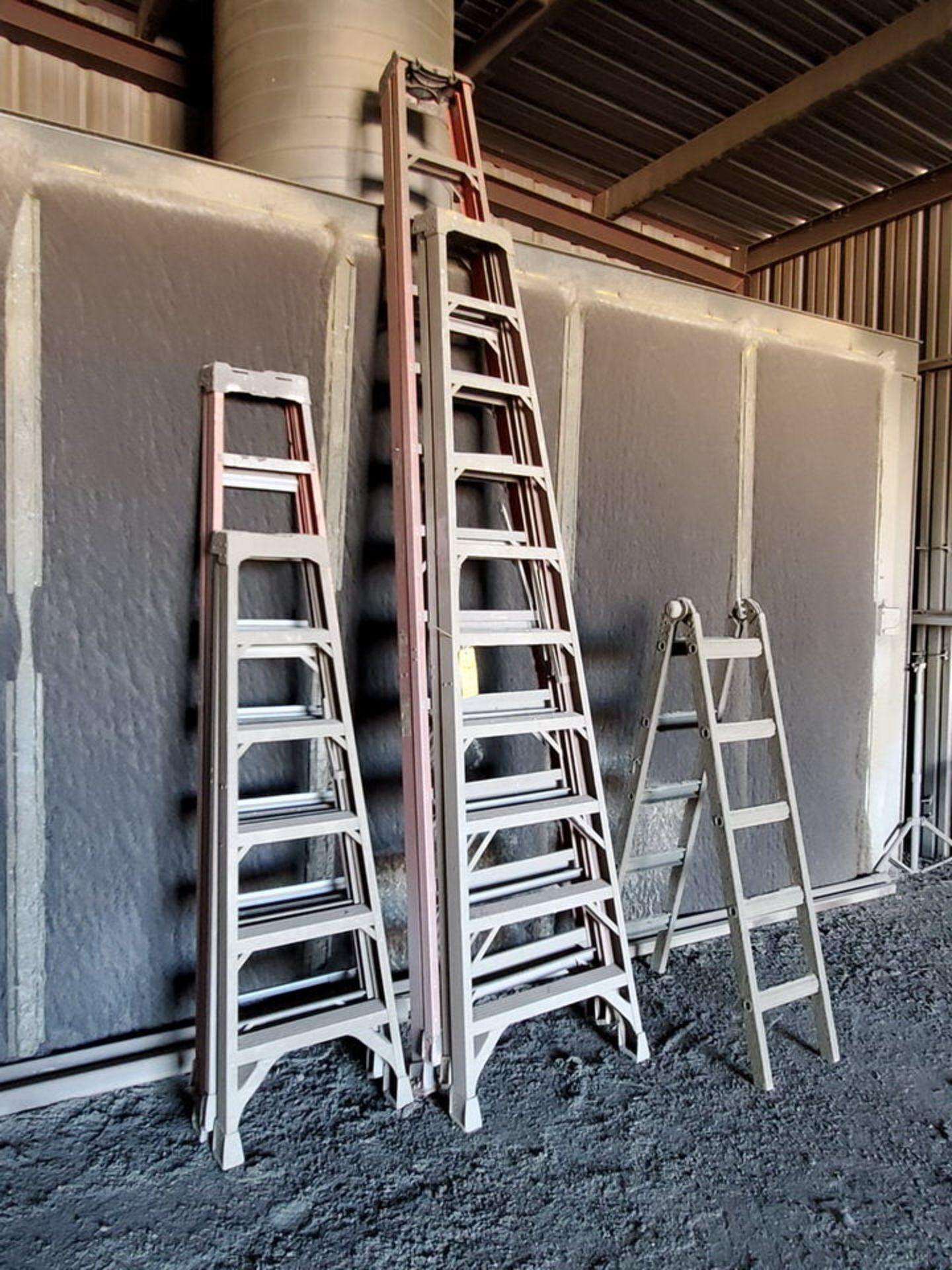 (5) Alum. Platform Ladders 8', 12', 10', (2) 6' - Image 2 of 3