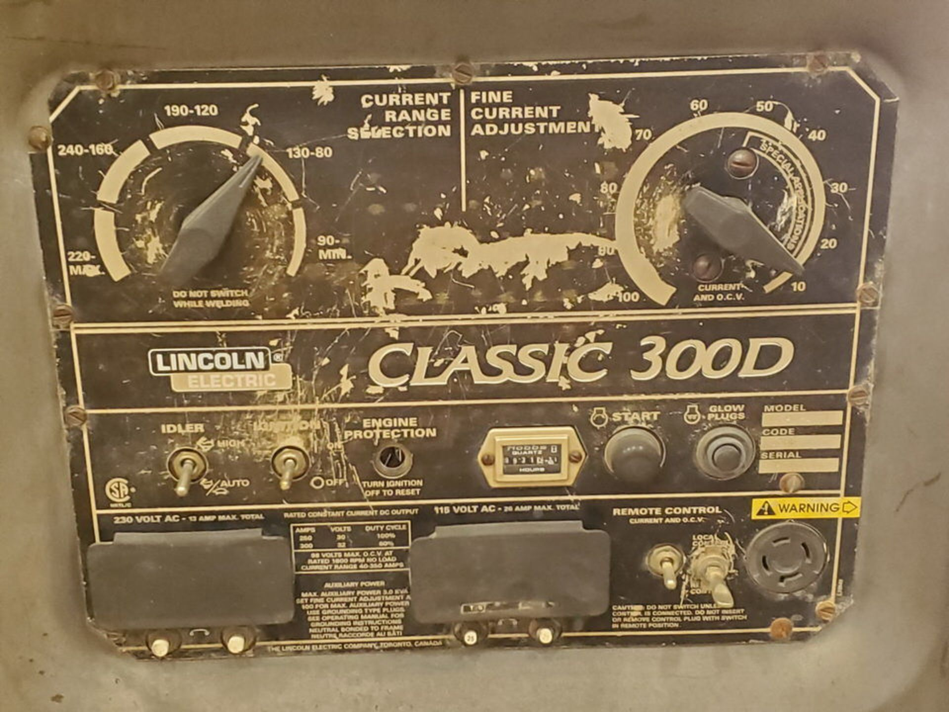 LE Classic 300D Multiprocessing Welder 115/230V, 26/13A; 4 Cyl Kubota Engine, 800RPM - Image 6 of 9