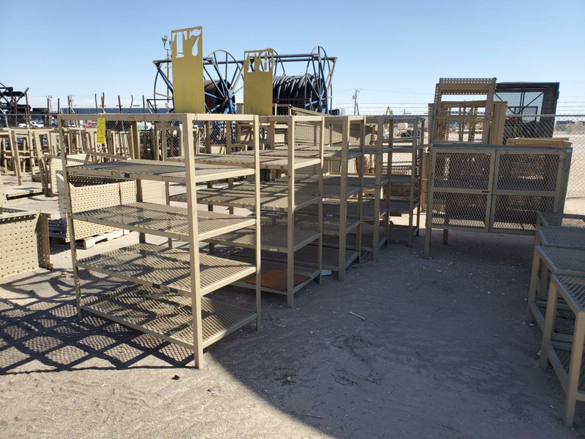 "Assorted Stl Matl. Racks & Ladders Size Range: 30"" x 26"" x 25""H - 29"" x 48"" x 50""H - Image 15 of 18"