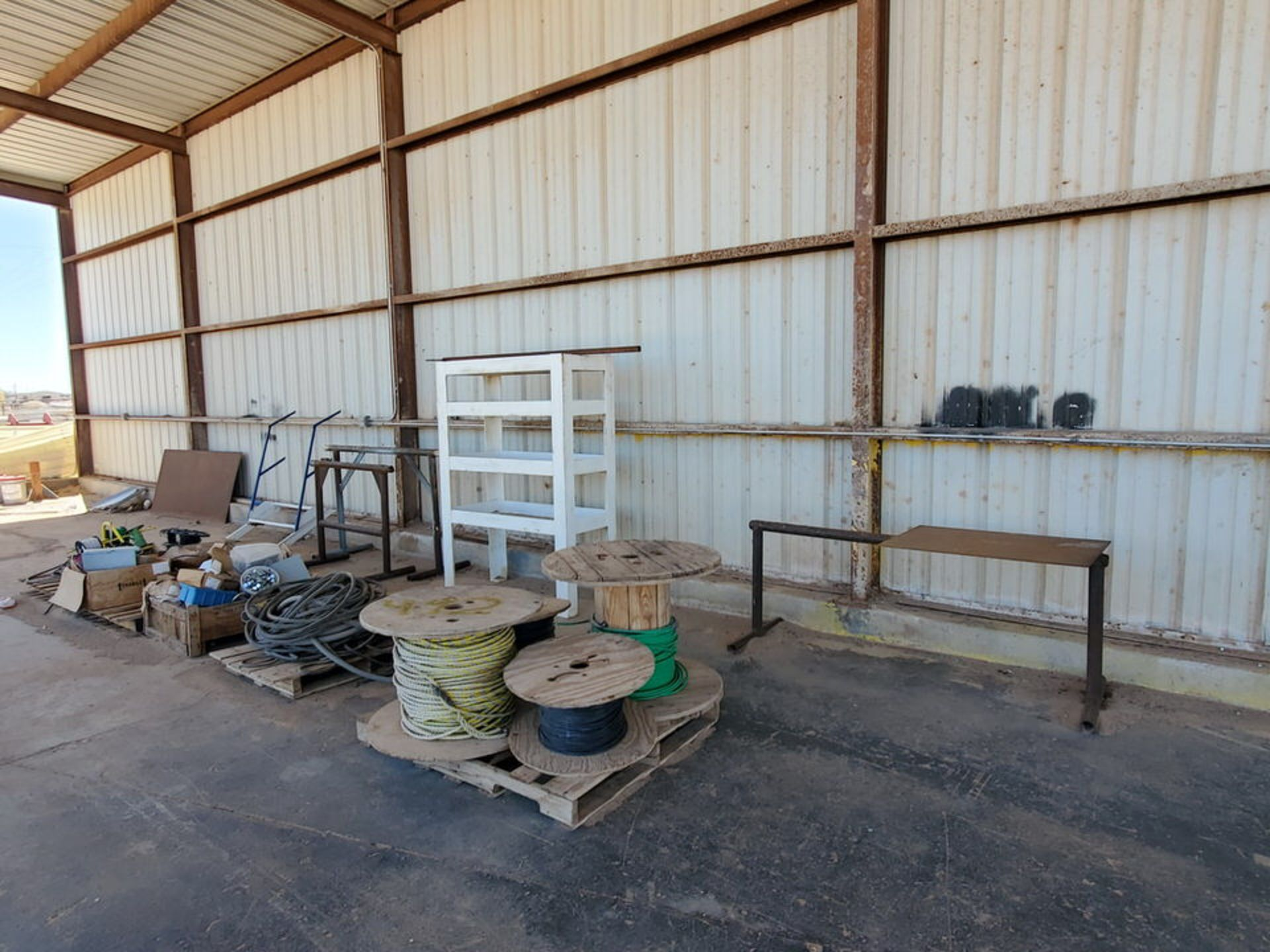 Misc. Matl. To Include But Not Limited To: Lift Basket, Welding Table, Sheet Metal, Ele Wire, Rope - Image 4 of 13